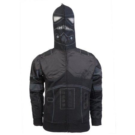 Star Wars - Shadow Trooper Costume Zip Hoodie (Star Wars Shadow Trooper Costume)