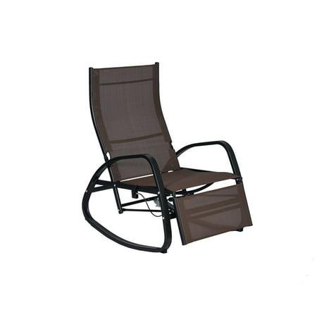 Home Patio Rocking Chair Indoor Outdoor Reclining Lounger Couch Garden Rocker ()