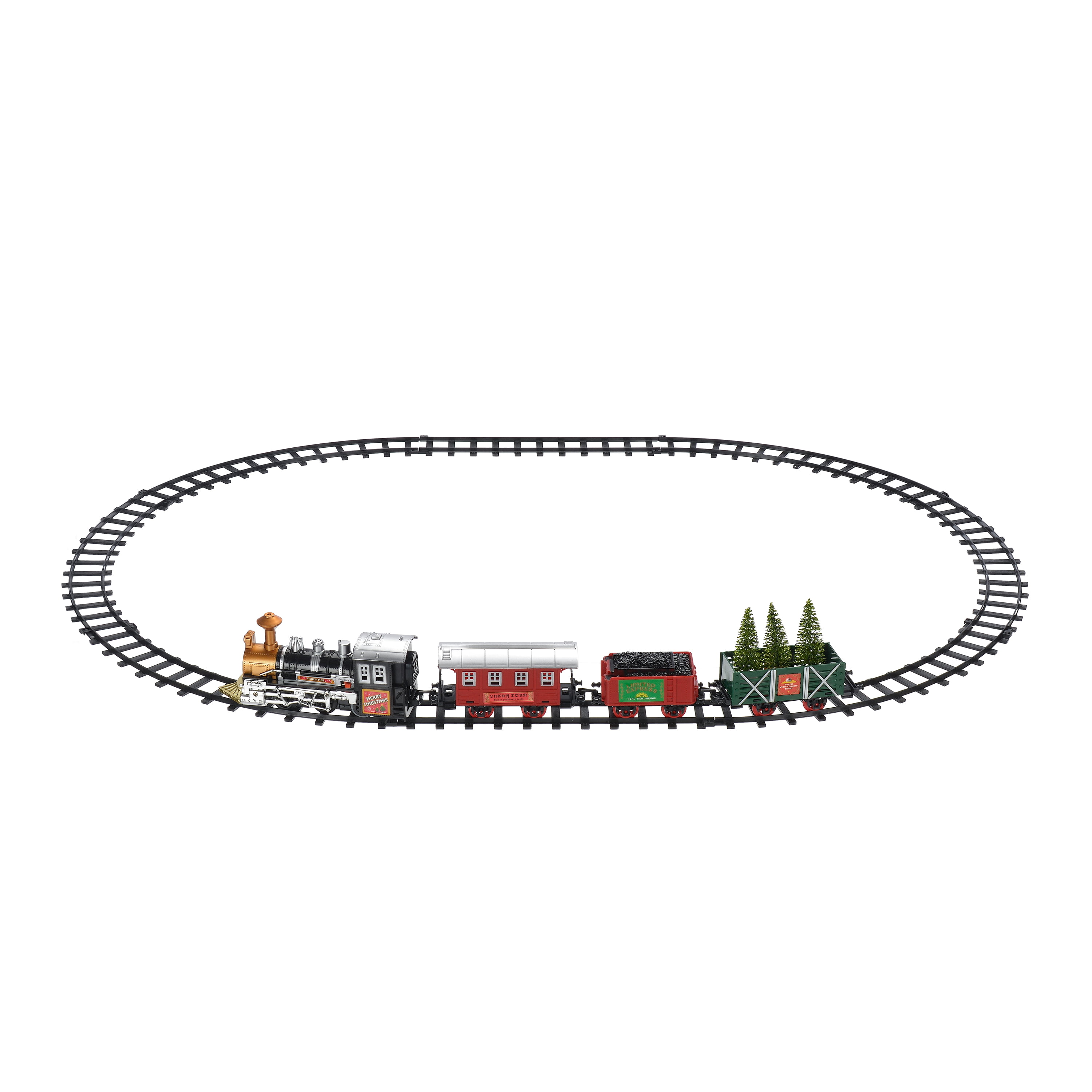 Holiday Time Battery Powered Train Set Christmas Decoration - Walmart.com