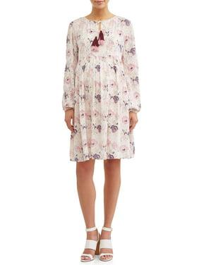 4dd3ffb651c Product Image Maternity Tiered Boho Dress W Tassels