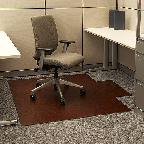 "Anji Mountain Bamboo Chairmat 55"" x 57"" with Lip, Cherry"