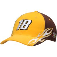 Kyle Busch Number Flame Adjustable Hat - Gold - OSFA