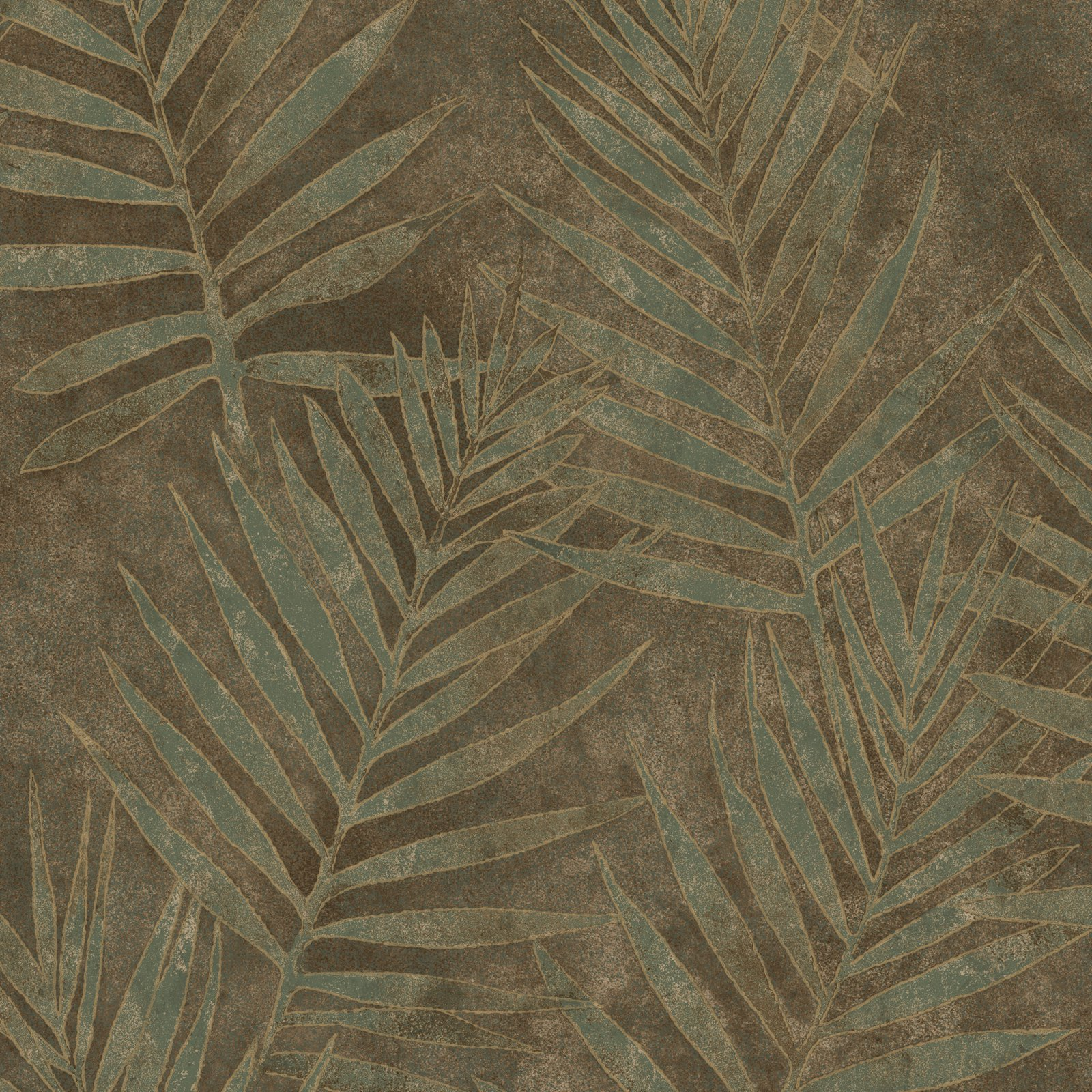 Warner Studios Grand Palms Leaves Wallpaper