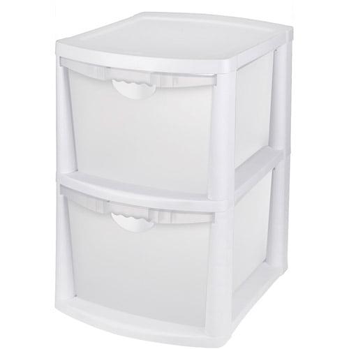 sterilite 2 drawer - chest of drawers