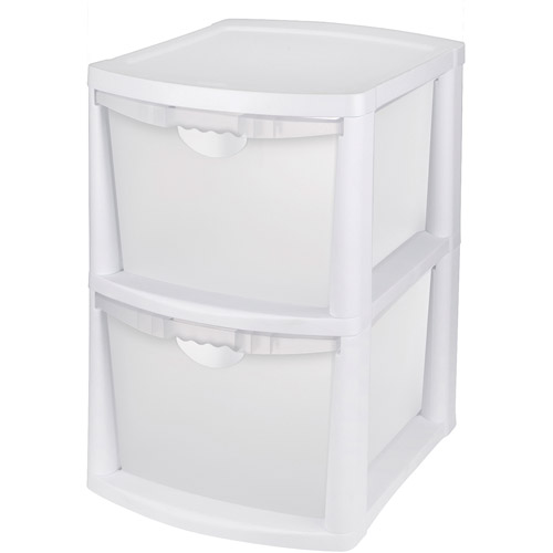 Sterilite Large 2 Drawer Unit White Walmart Com