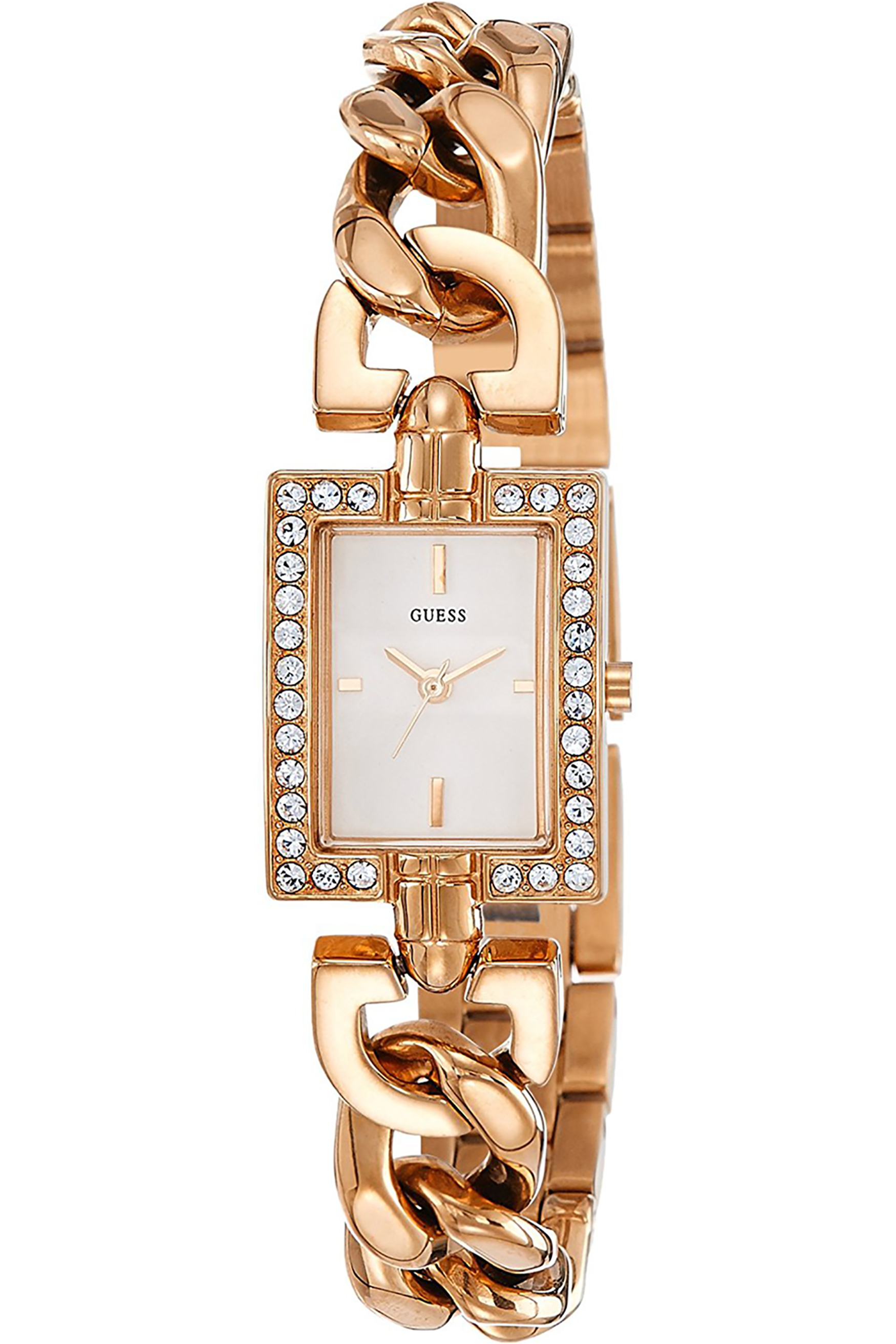 W0540L3,Ladies Petite Dress Elegant,Stainless Steel Case,Rose Gold Tone,Crystal Accented Bezel,Silver Dial,WR