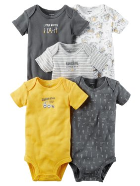 6ef3c3faf Product Image Carters Baby Boys 5-Pack Short-Sleeve Original Bodysuits Mr.  Fix-It