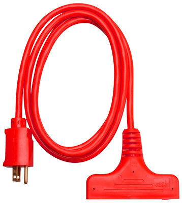 Pt Ho Wah Genting 04004ME 6-Ft. 14/3 SJTW Red 3-Outlet Extension Cord