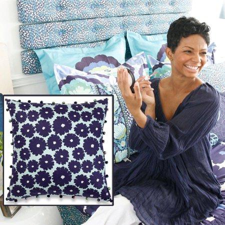 - Amy Butler Dream Daisy Decorative Pillow (Flower Pattern)