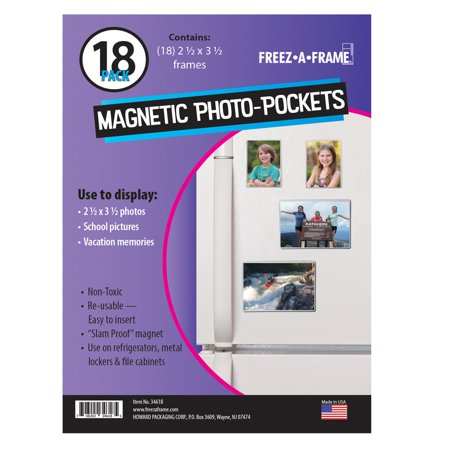 Freez-A-Frame Clear Magnetic Photo Frames 2.5