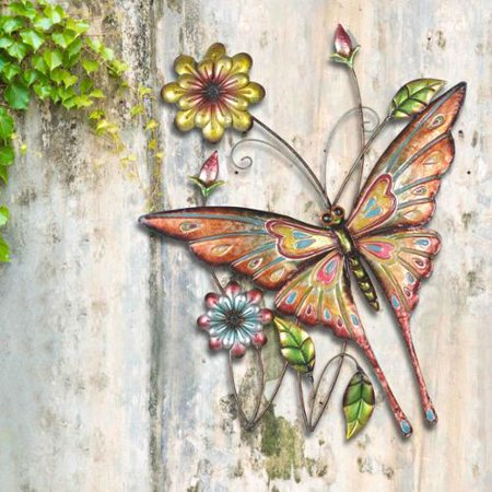 Sunjoy butterfly flowers hand painted iron for Iron accents promo code