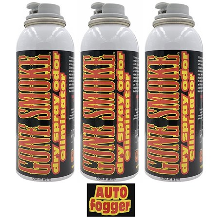 Gone Smoke Auto Fogger Smoke Eliminator, car air freshener, 3 oz. (Set of 3)