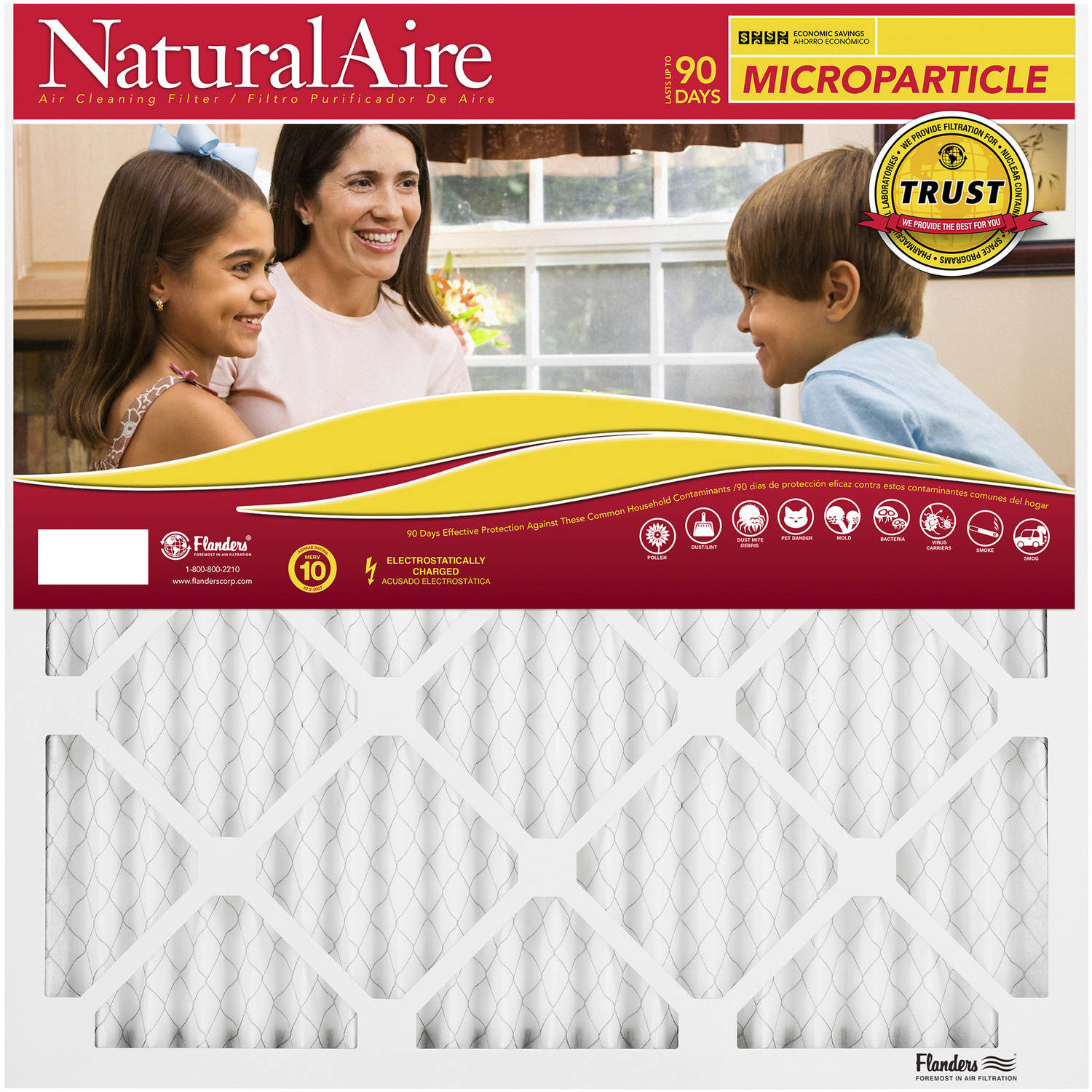 "NaturalAire Mircoparticle Air Filter, MERV 10, 10"" x 20"" x 1"", 1-Pack"