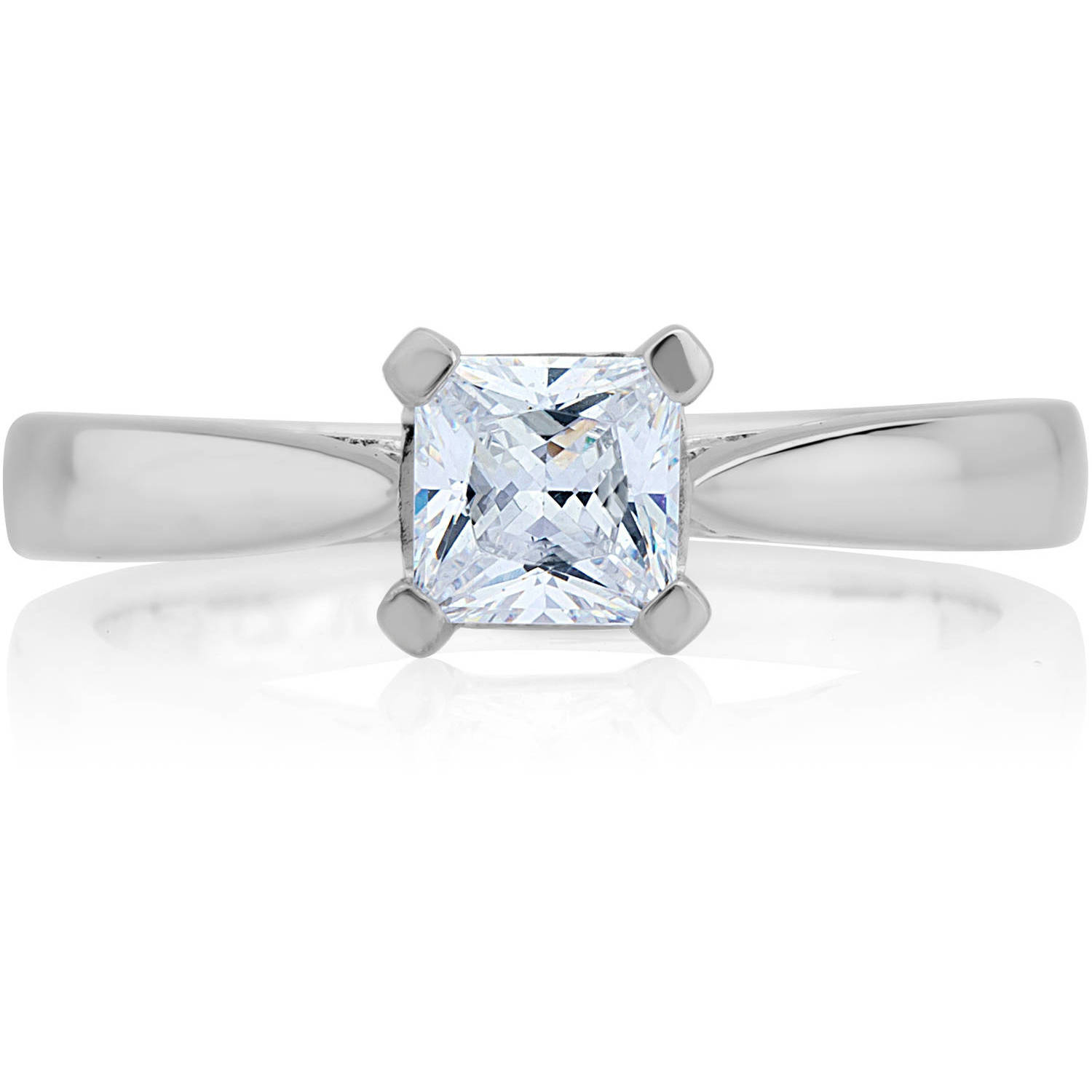 Carina 1 Carat T.W. Certified Princess Diamond 14kt Gold Solitaire Ring by Generic