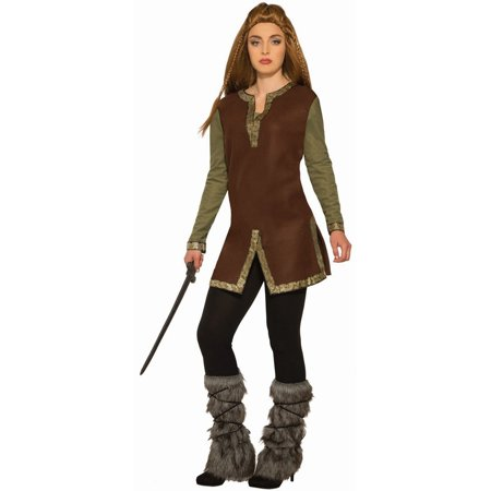 Halloween Viking Warrior Tunic Adult Costume - Viking Princess Warrior