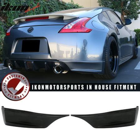Fits 09-19 Nissan 370Z SS Style Rear Aprons Spat Rear Bumper Lip - PU Urethane