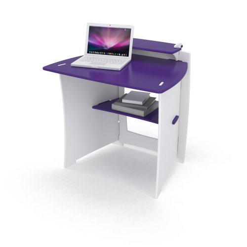 Legare 34 in. Kids Desk with Shelf - Purple and White