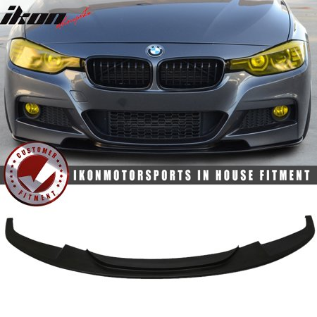 Fits 12 18 Bmw F30 3 Series Dp Style Front Bumper Lip Unpainted