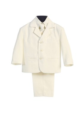 97b11b246 Product Image Little Boys Ivory Special Occasion Wedding Easter 5pc Suit Set  12M-14. Sophias Style