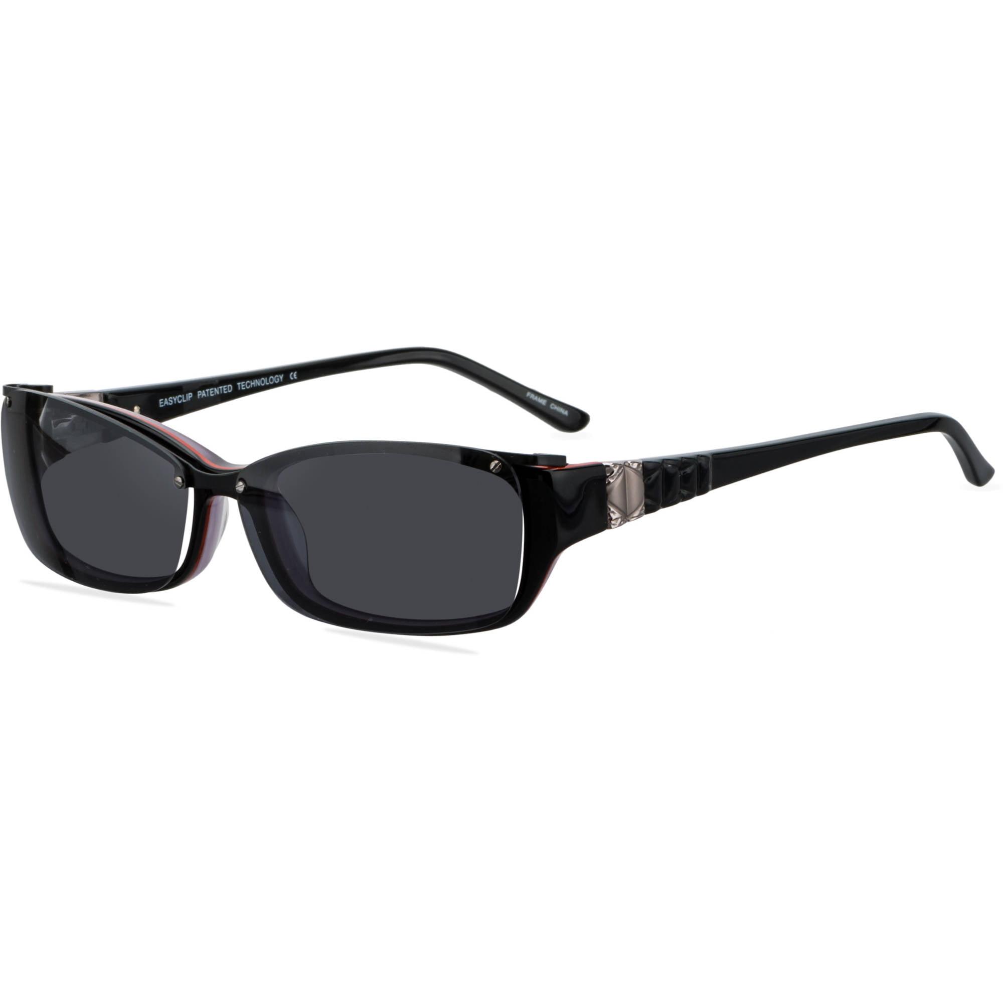 Easyclip Womens Prescription Glasses Ec241 Black Kacamata Sunglasses Magnet 5 In 1