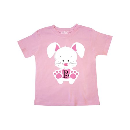 Easter Bunny Letter B Monogram Toddler T-Shirt Monogrammed Childrens Clothing