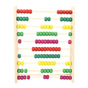 ONRP Wooden Abacus Children Counting Number Maths LearningToy(Bead Color Random)