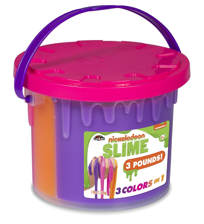 Nickelodeon Tri-Color Slime Bucket Large
