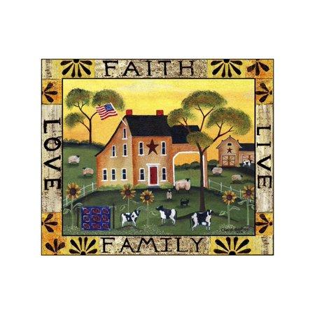 Faith Family Live Love Lang Print Wall Art By Cheryl Bartley