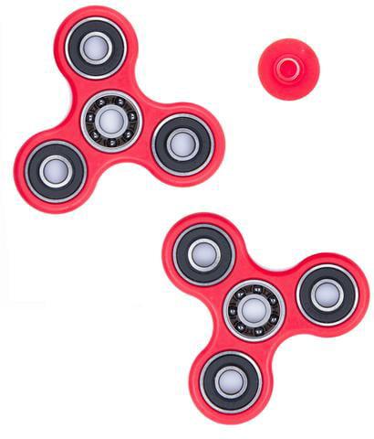 50 PACK Aluminum Hand Spinner Tri Fidget Spinner 3D EDC Focus Toy Kids//Adult RED