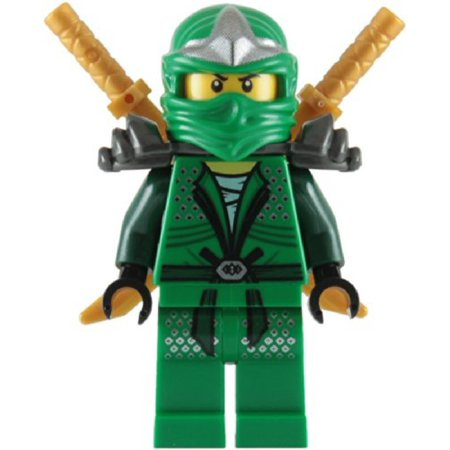 LEGO LEGO Ninjago Lloyd ZX With Dual Gold katanas Minifigure [Green] [No Packaging] (Lego Ninjago Lloyd Zx)