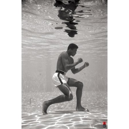 Muhammad Ali Photo (Muhammad Ali Posing Underwater Training Boxing Sports Photo Poster 24x36 inch)