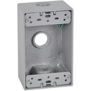 Hubbell Electrical FSB50-3X 1 Gang Rectangular Outlet Box, Gray