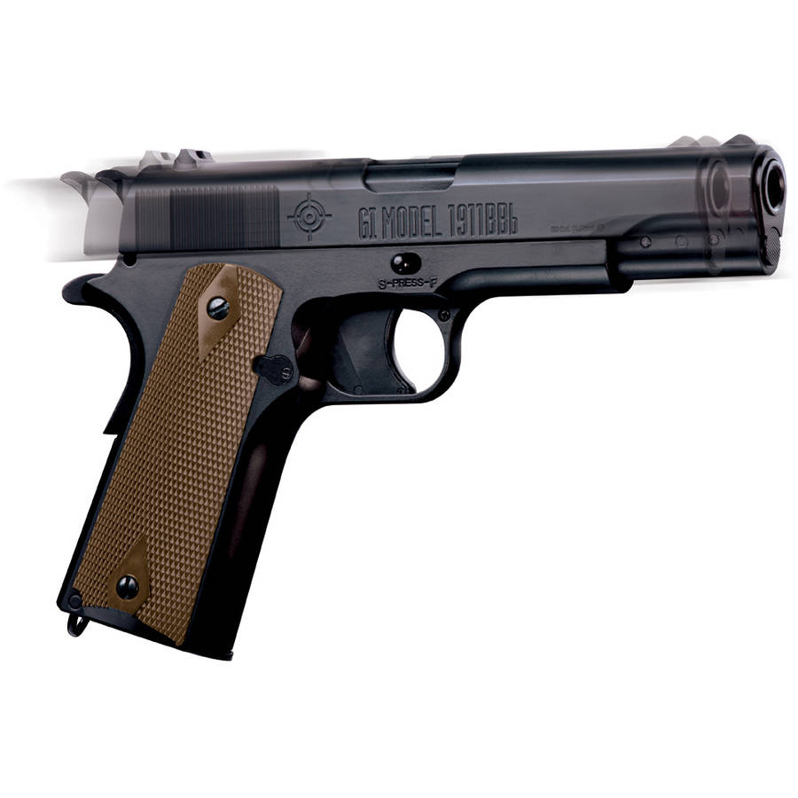 Crosman GI 1911BB Full Metal Blowback .177 Caliber Semi-Auto CO2  Air Pistol, 450fps