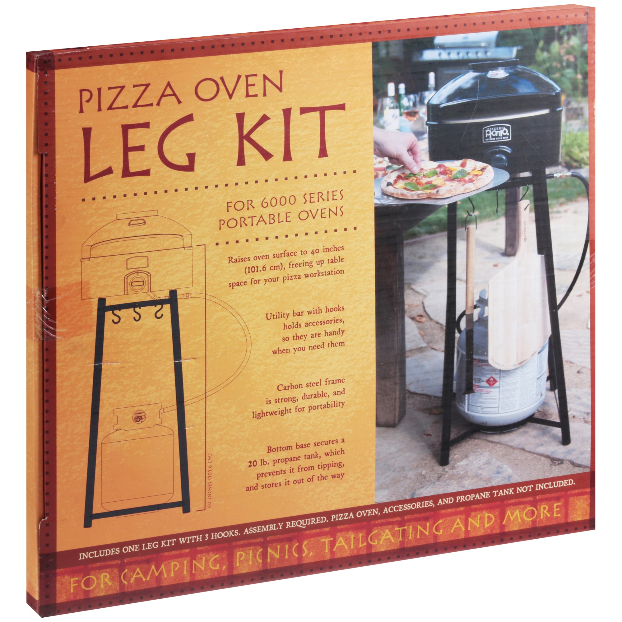 Pizzacraft Pizza Oven Leg Kit, Outdoor, Black, PC6011