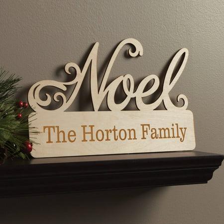 Noel Wood (Christmas Noel Personalized Wood)