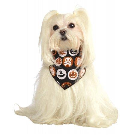 Dog Bandana Pet Costume Accessory Halloween Motif - Small/Medium - Halloween Dog Bandanas Uk