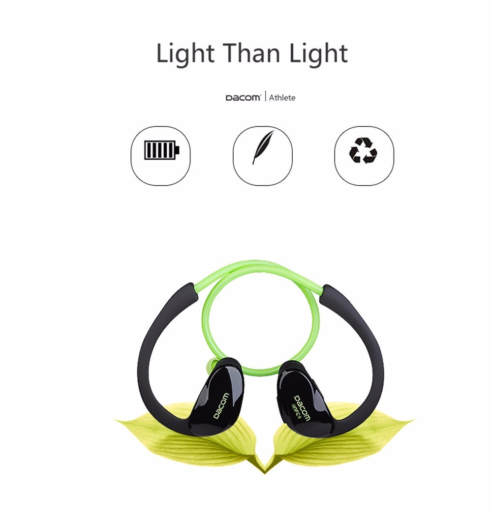 Athletic Sport Running Wireless Bluetooth 4.0 Headphones by Epiktec | Stereo + Microphone + Call Answering| Rechargeable Battery - image 6 of 9