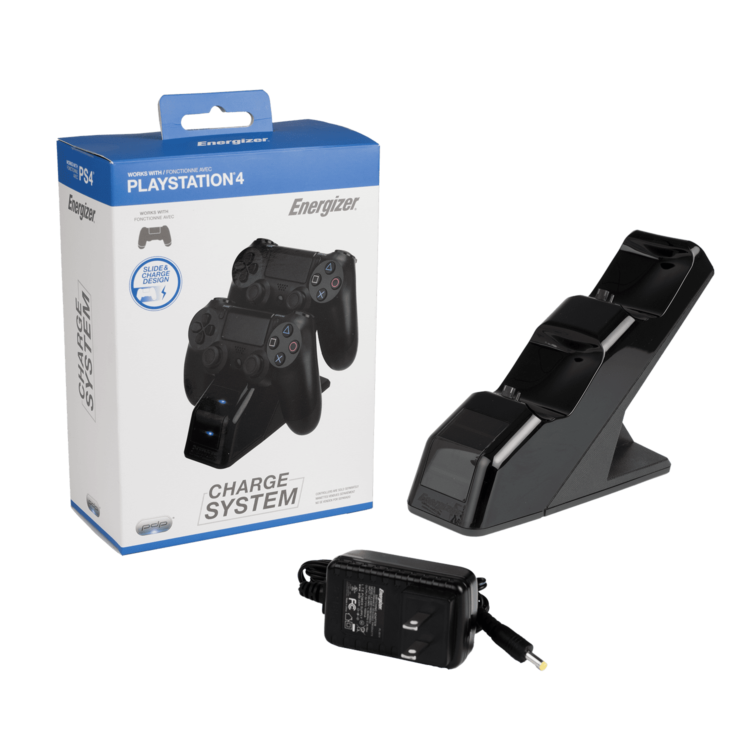PDP Energizer Playstation 4 Controller Charger Charging Station, Black, 0019 by PDP