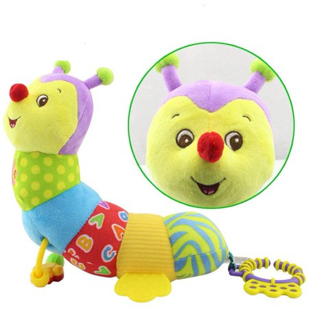 Musical Baby Toy, Soft Colorful Caterpillar Infant Toy Interactive Worm Toy Developmental Educational Plush Stuffed Toy for Kids, Newborn, Boys and Girls