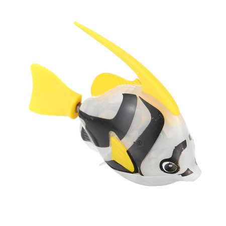 Fancy Toys Electronic Robot Shining Swimming Electric Fish Toy Children Kids Playing Water Toy Aquatic (Fish Pool Toy)