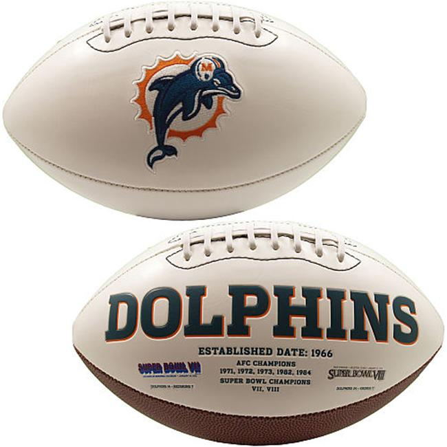 Creative Sports FB-DOLPHINS-Signature Miami Dolphins Embroidered Logo Signature Series Football
