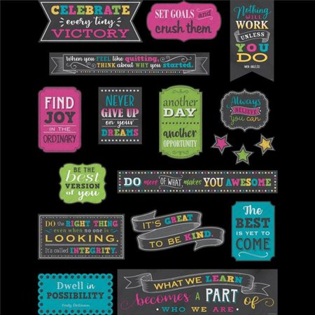 Teacher Created Resources TCR5575 Chalkboard Brights Positive Sayings Mini Bulletin Board Set ()