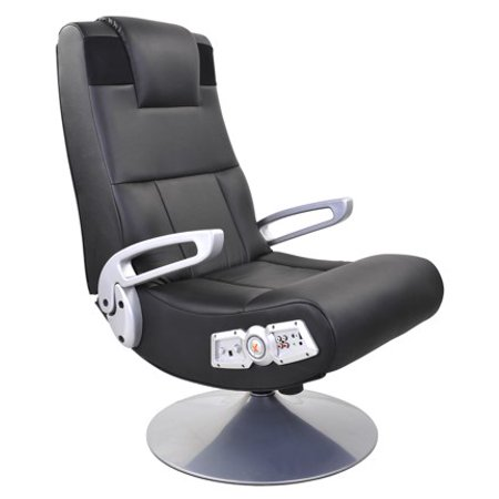 X Pedestal Pedestal 2.1 Wireless Gaming Chair Rocker, Black