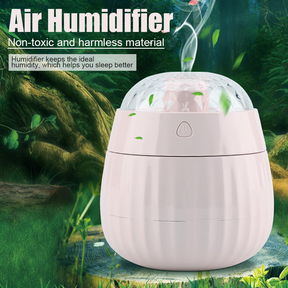 Mini Air Humidifier with USB Port Keep Humidity Colorful Projection light Home Office,Air Humidifier, Electric Appliance
