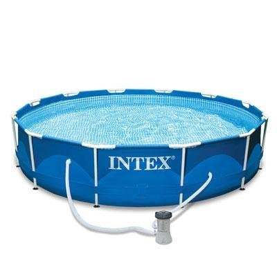 Intex 12 ft. x 30 in. Metal Frame Swimming Pool with 530 GPH Filter Pump