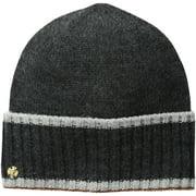 AK Anne Klein Women's Cuffed Hat With Tipping, Dark Grey, One Size