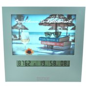 Large Display Retirement Countdown Clock With 4x6 Picture Frame, Countdown Retirement Clocks are Fun Gifts for Women
