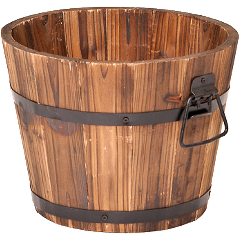"""DeVault Enterprises DEVBP208-S 10"""" x 10"""" x 8"""" Small Round Barrel Planter by DeVault Enterprises"""