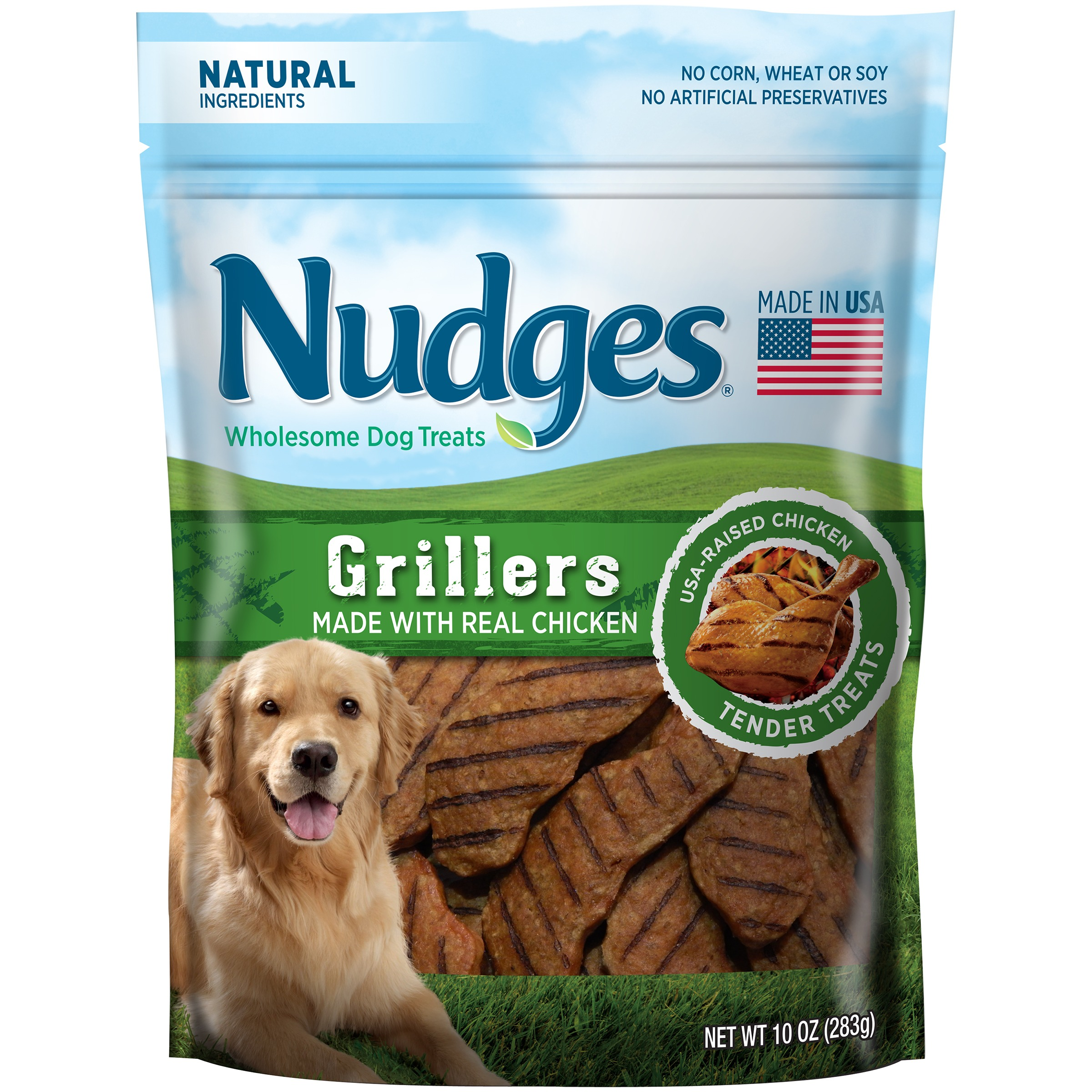 Nudges Grillers Wholesome Dog Treats 10 oz. Pouch by Tyson Pet Products Inc.