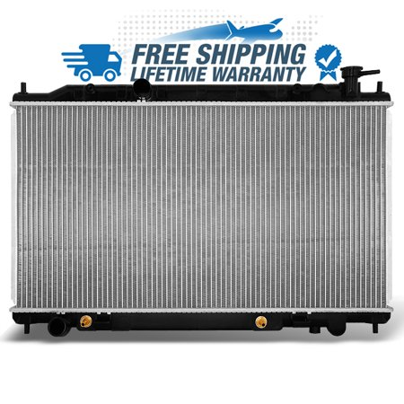 Fits Lifetime Warranty Aluminum Radiator 2414 For 2002-2006 Altima 2.5L L4 4Cyl Direct Fit Aluminum Radiator